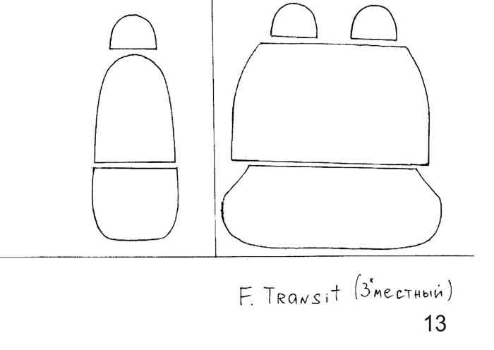 выкройка чехол для сидения автомобиля своими руками